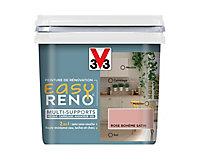 Peinture de rénovation multi-supports V33 Easy Reno rose bohème satin 0,75L