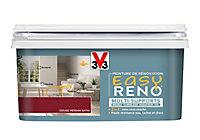 Peinture de rénovation multi-supports V33 Easy Reno rouge persan satin 2L