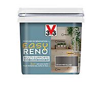 Peinture de rénovation multi-supports V33 Easy Reno étain métallisé 0,75L