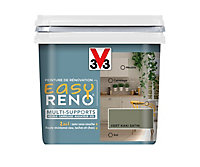 Peinture de rénovation multi-supports V33 Easy Reno vert kaki satin 0,75L