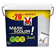 Peinture de rénovation multi-supports V33 Mask & color blanc mat 5L + 20% gratuit