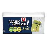 Peinture de rénovation multi-supports V33 Mask & color vert bambou mat 2,5L