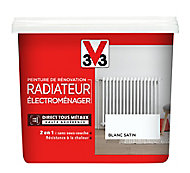 Peinture de rénovation radiateur électroménager V33 blanc satin 0,75L