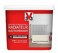 Peinture de rénovation radiateur électroménager V33 voile de coton satin 0,75L