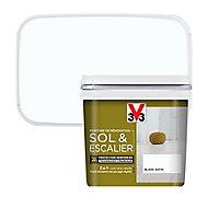 Peinture de rénovation sol et escalier V33 blanc satin 0,75L