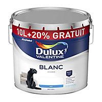 Peinture Dulux Valentine murs et plafonds blanc mat 10 + 2L gratuits