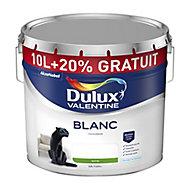 Peinture Dulux Valentine murs et plafonds blanc sat 10 + 2L gratuits