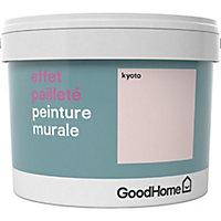 Peinture à effet paillettes GoodHome rose Kyoto 2L