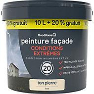 Peinture façade autonettoyante Premium GoodHome ton pierre 10L +20% gratuit