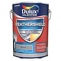 Peinture façade toutes conditions climatiques Dulux Valentine gris titanium 5L