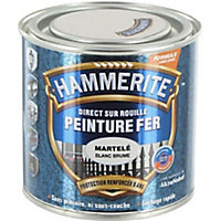 Peinture fer antirouille blanc brume martelé Hammerite 2,5L
