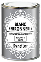 Peinture fer antirouille blanc satiné Syntilor 250 ml