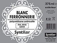 Peinture fer antirouille blanc satiné Syntilor 375ml