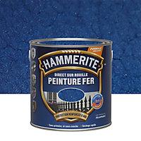 Peinture fer antirouille bleu nuit martelé Hammerite 2,5L