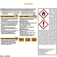 Peinture fer antirouille châtaigne effet martelé Hammerite 2,5L