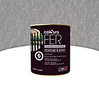 Peinture fer antirouille Colours effet martelé argent 0,25L