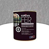 Peinture fer antirouille Colours effet martelé argent 0,75L