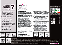 Peinture fer antirouille Colours noir mat 0,25L