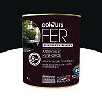 Peinture fer antirouille Colours noir satin 2L