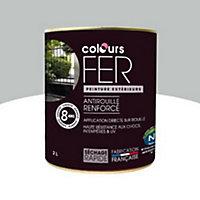 Peinture fer antirouille direct sur rouille Colours gris aluminium satin 2L