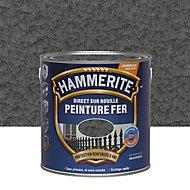 Peinture fer antirouille gris ardoise martelé Hammerite 2,5L