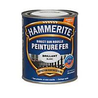 Peinture fer antirouille laqué blanc Hammerite 2,5L