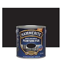 Peinture fer antirouille laqué noir Hammerite 2,5L