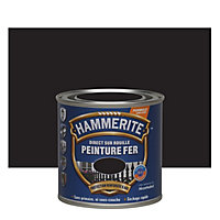 Peinture fer antirouille noir mat ferronnerie Hammerite 250ml