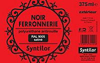 Peinture fer antirouille noir satiné Syntilor 375ml