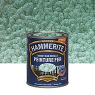 Peinture fer antirouille vert jade martelé Hammerite 750ml