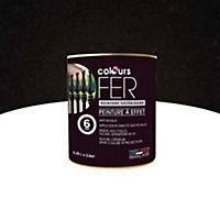 Peinture fer COLOURS effet martelé noir 0,25L