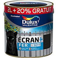 Peinture fer extérieur Dulux Valentine anti-rouille noir brillant 2L+20%