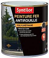 Peinture fer Syntilor Ultra Protect noir satin 0,5L