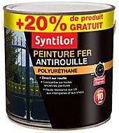 Peinture fer Syntilor Ultra Protect noir satin 1,5L + 20% gratuit
