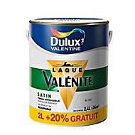 Peinture glycéro boiseries Blanc satin 2L + 20%