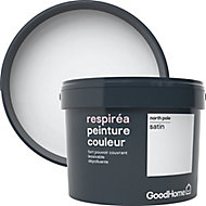 Peinture GoodHome Respiréa blanc North Pole satin 2,5L