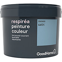 Peinture GoodHome Respiréa bleu Monaco satin 2,5L