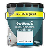 Peinture haute résistance blanc mat GoodHome 10L + 20% gratuit
