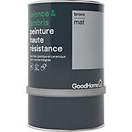 Peinture haute résistance carrelage mural et lambris GoodHome gris Bronx mat 0,75L