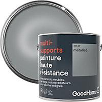 Peinture haute résistance multi-supports GoodHome argent Bel Air métallisé 2L