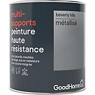 Peinture haute résistance multi-supports GoodHome argent Beverly Hills métallisé 0,75L