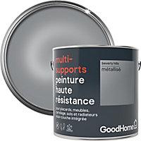 Peinture haute résistance multi-supports GoodHome argent Beverly Hills métallisé 2L