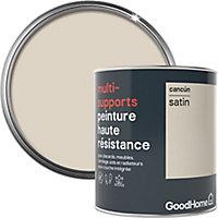 Peinture haute résistance multi-supports GoodHome beige Cancún satin 0,75L