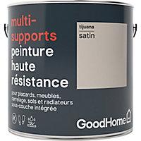 Peinture haute résistance multi-supports GoodHome beige Tijuana satin 2L