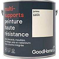 Peinture haute résistance multi-supports GoodHome blanc Juneau satin 2L