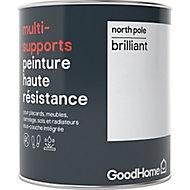 Peinture haute résistance multi-supports GoodHome blanc North Pole brillant 0,75L