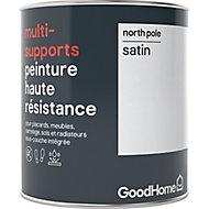 Peinture haute résistance multi-supports GoodHome blanc North Pole satin 0,75L