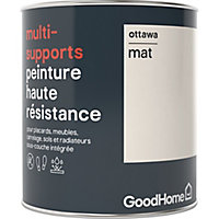 Peinture haute résistance multi-supports GoodHome blanc Ottawa mat 0,75L