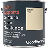 Peinture haute résistance multi-supports GoodHome blanc Toronto mat 2L