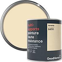 Peinture haute résistance multi-supports GoodHome blanc Toronto satin 0,75L